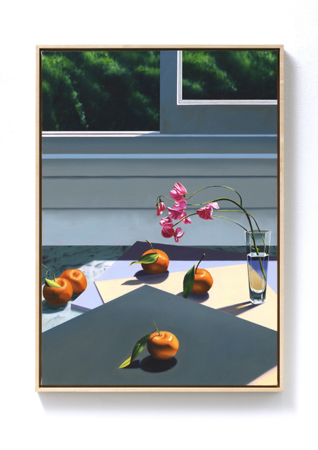 , 'Interior with Sweet Peas and Tangerines,' 2019, Leslie Sacks Gallery