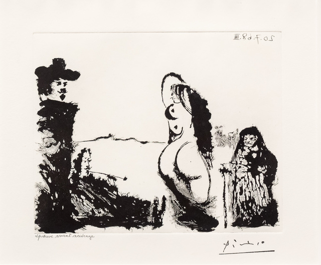 Pablo Picasso, 'Maja et Celestine, from the 347 Series', 1968, Leslie Sacks Gallery
