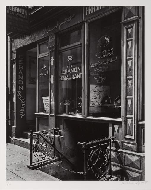 Berenice Abbott, 'The Lebanon Restaurant 88 Washington Street', 1936, Doyle
