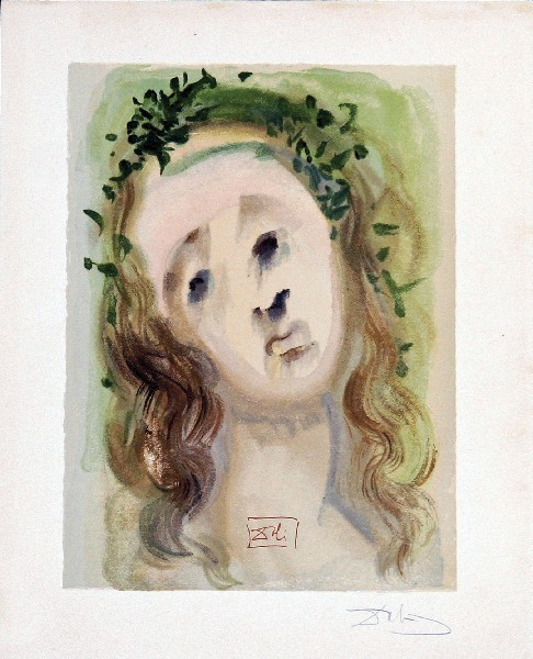 Salvador Dalí, 'Purgatory Canto 10: The Face of the Virgil from The Divine Comedy', 1960, Print, Woodblock on paper, New River Fine Art