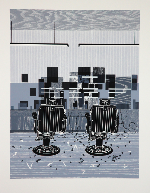 , 'Barbershop Print,' 2010, Durham Press, Inc.