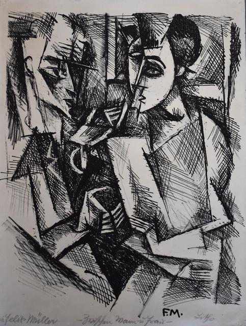 , 'Between Man and Woman | Zwischen Mann und Frau,' 1917, Gilden's Art Gallery
