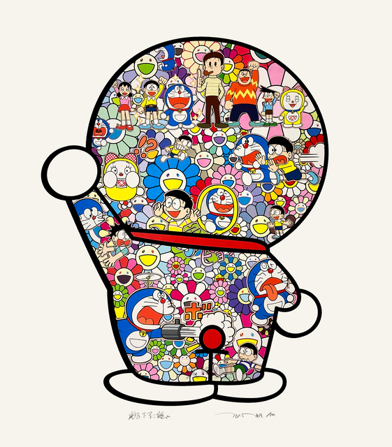 Takashi Murakami, 'Takashi Murakami x Doraemon: Mr. Fujiko F. Fujio and Doraemon Are in the Fields', 2019, Kumi Contemporary / Verso Contemporary