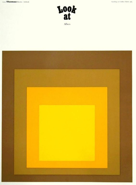 Josef Albers, 'Josef Albers Galerie Thomas 1969 poster (Homage to the Square) ', 1969, Lot 180