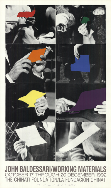 John Baldessari, 'Working Materials', 1992, Posters, Offset Lithograph, ArtWise