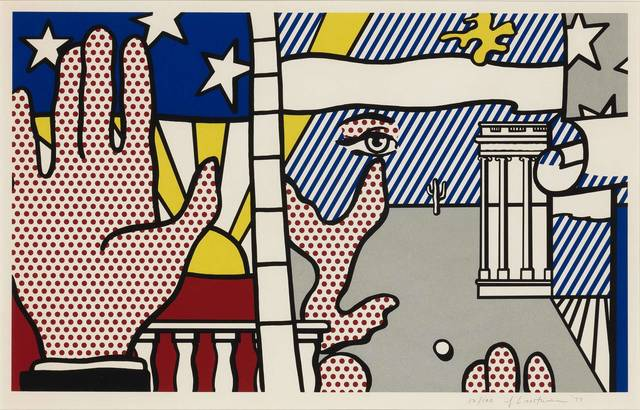Roy Lichtenstein, 'INAUGURAL PRINT (CORLETT 151)', 1977, Print, Color screenprint on Arches 88 paper, Doyle