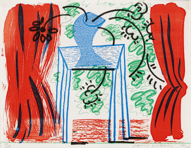 David Hockney, 'Still Life with Curtains, March 1986', 1986, RAW Editions