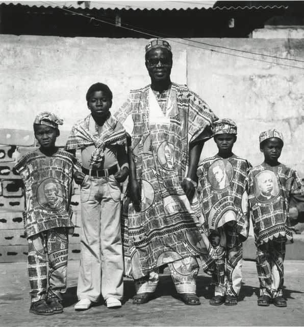 , 'Accra, studio X23, c. 1975. A friend at the time of the Ever Young studio, taxi driver, Nii Lamptey Boyer, and his children, during the centenary celebrations for the founding of the John Wesley Methodist church.,' 2017, Galerie Clémentine de la Féronnière