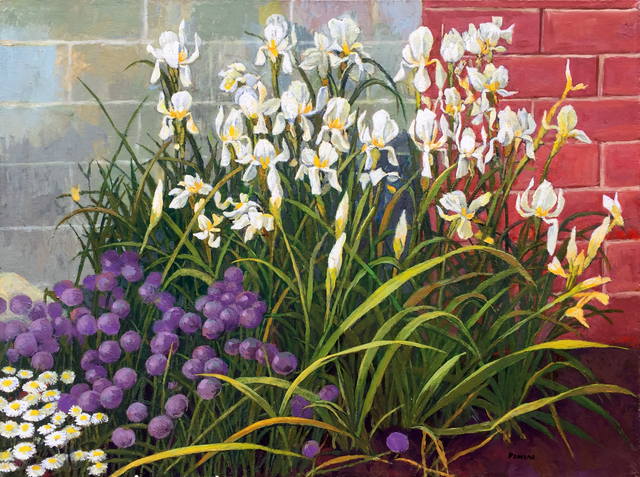 , 'Iris and Chives,' , Childs Gallery