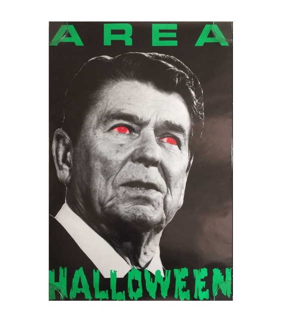 ", '""AREA-Halloween"", Party Poster, ca.1980's, AREA Nightclub NYC.,' ca.1980's, VINCE fine arts/ephemera"