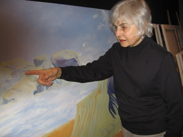 Internationally-recognized as a painter, sculptor, and educator, Elaine Galen