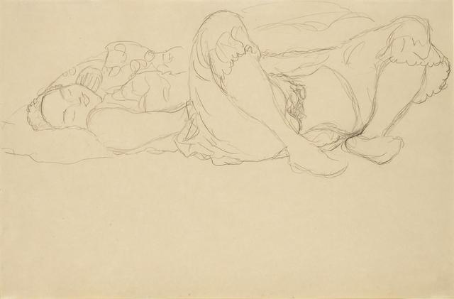 Gustav Klimt, 'Masturbating Girl ', ca. 1916, Richard Nagy Ltd.