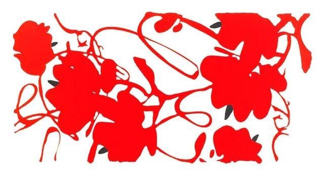 Donald Sultan, 'Lantern Flowers (Red with White)', 2013, Pop Fine Art