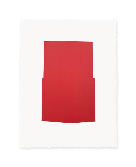 Jeff Kellar, 'white w/red 2', 2019, Richard Levy Gallery
