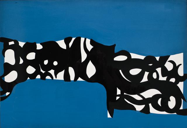 , 'Bianco nero su turchese,' 1960, Barbara Mathes Gallery