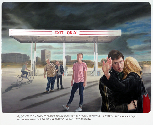 Muntean & Rosenblum, 'Untitled ( Our curse is ...) ', 2015, Painting, Oil on canvas, Galeria Horrach Moya