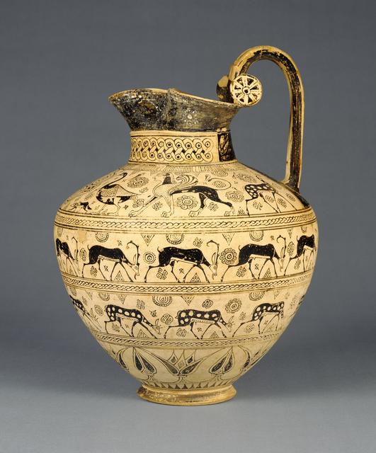'Oinochoe',  about 625 B.C., J. Paul Getty Museum