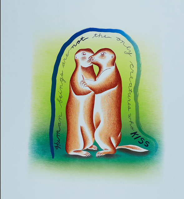 Judy Chicago, 'In Praise of Prairie Dogs', 2019, Print, Lithograph on paper, Artsy x Capsule Auctions