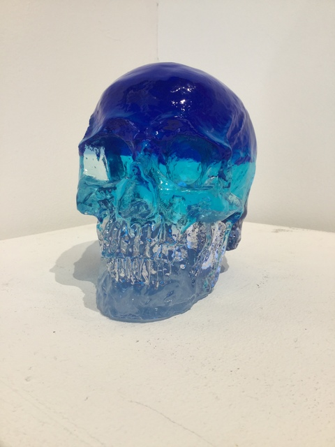 Sam Tufnell, 'Sam Tufnell, Blue Crystal Multi Layered Skull ', 2018, Oliver Cole Gallery