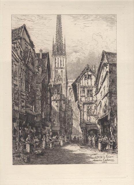 , 'Une Rue de Rouen - A Street in Rouen,' 1884, Hans den Hollander Prints