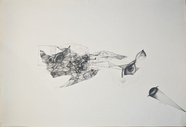 Joan Pijoan, 'untitled', 1974, Drawing, Collage or other Work on Paper, India ink, Sylvan Cole Gallery