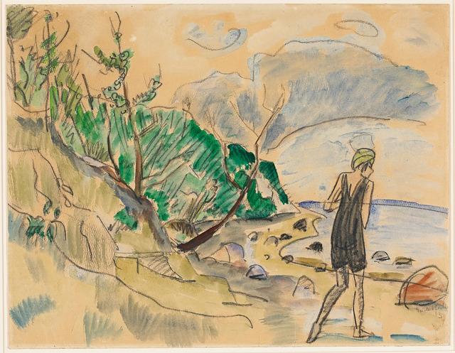 , 'Badende,' 1913, Galerie Herold