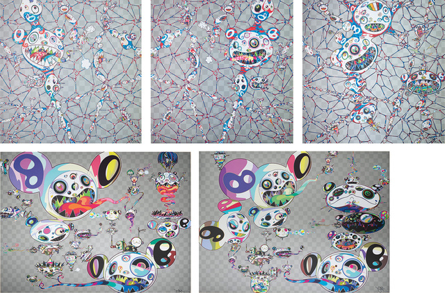 Takashi Murakami, 'We Are Destined To Meet Someday! But for Now, We Wander in Different Dimensions; Chaos: Primordial Life; DOB: Myxomycete; Hands Clasped; and Another Dimension Brushing Against Your Hand', 2015, 2016, 2017, Phillips