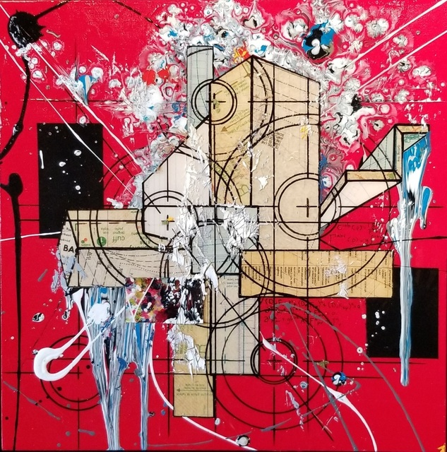 Étienne Gélinas, 'Composition 512', 2019, Painting, Mixed media on canvas, Thompson Landry Gallery