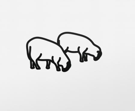, 'Sheep 3 (Steelcut),' 2015, Frank Fluegel Gallery