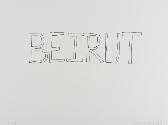 Tracey Emin, 'Beirut', 2006, Print, Offset Lithograph printed in black, Alpha 137 Gallery