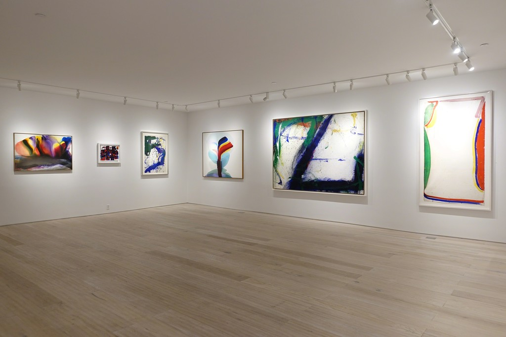 """Installation view - """"Between Tachisme and Abstract Expressionism: Bluhm, Francis, Jenkins"""""""