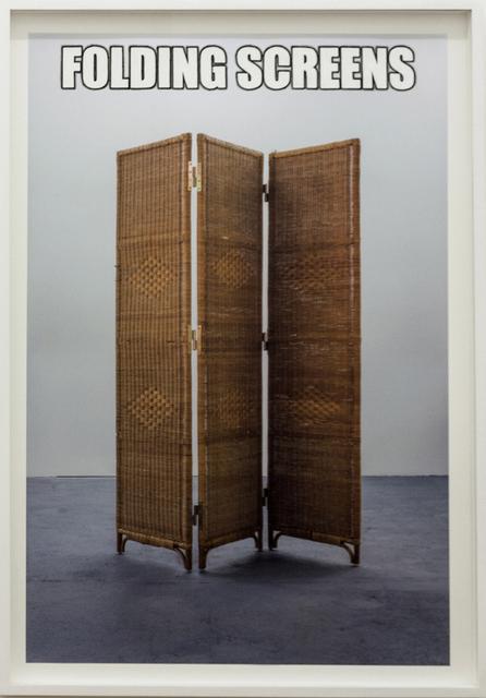 Cristina Garrido, '#FOLDINGSCREENS', 2015, CURRO