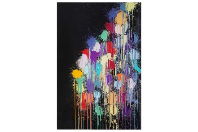Ian Davenport, 'Colour Splat Cloud (Black)', 2017, Chiswick Auctions