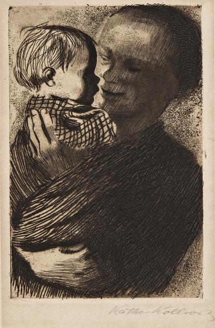 Käthe Kollwitz, 'Two Impressions of Mutter mit Kind auf dem Arm', Print, Etchings, Skinner