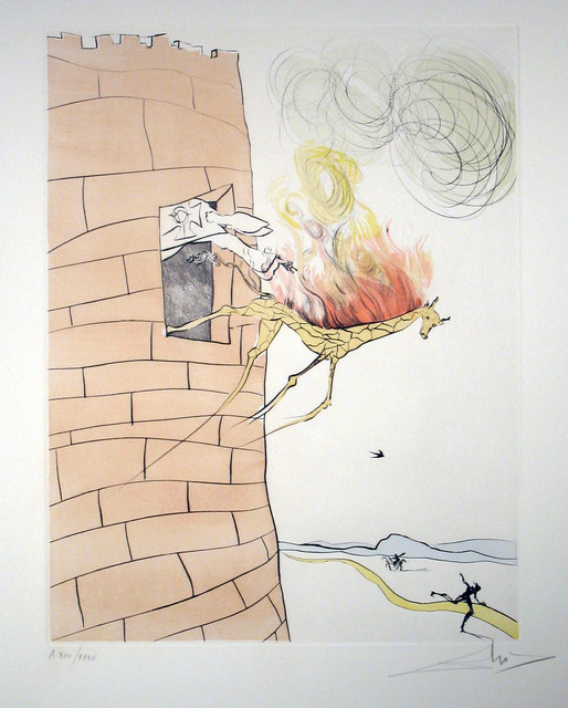 Salvador Dalí, 'The Grand Inquisitor Expels the Savior', 1974, Print, Drypoint engraving with hand coloring, DTR Modern Galleries