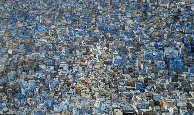 , 'Grande Ville Bleue,' 2017, galerie bruno massa