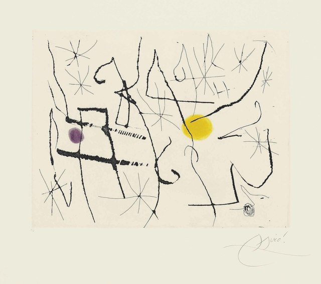 Joan Miró, 'Plate 11 from: Càntic del Sol', 1975, Christie's