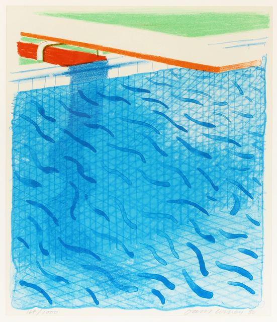 David Hockney, 'Pool made with paper and blue ink', Chiswick Auctions