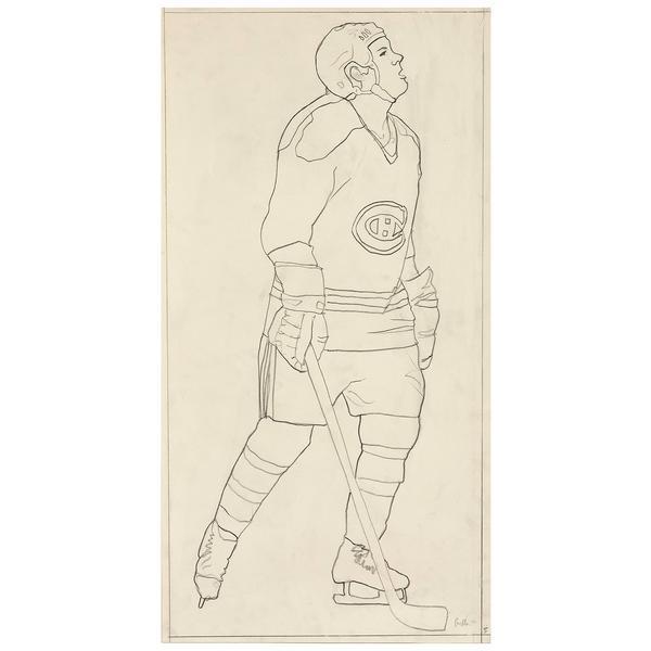 ", '""Hockey Knights in Canada"" Habs Drawing,' 1984, Caviar20"
