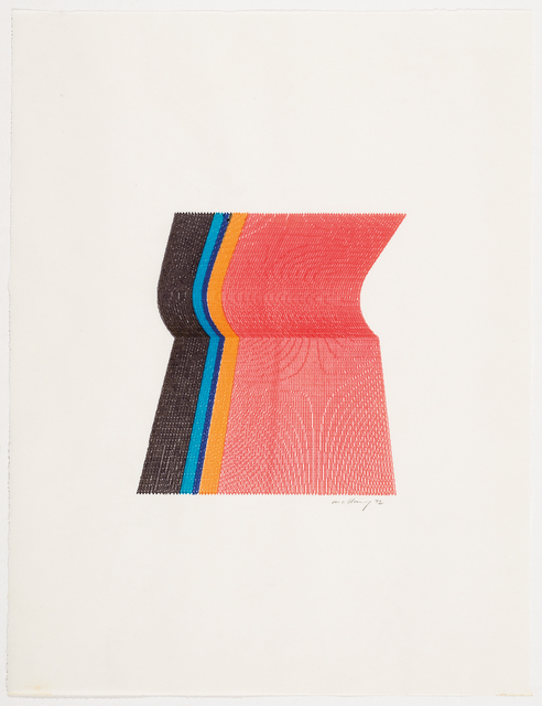 , '3 color plotter graphic,' 1972, The Mayor Gallery