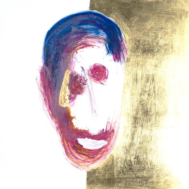 , 'Gesicht (Golddenker (denkt sich eine goldene Nase) / Doppelgesicht),' 2018, Galerie Valentien