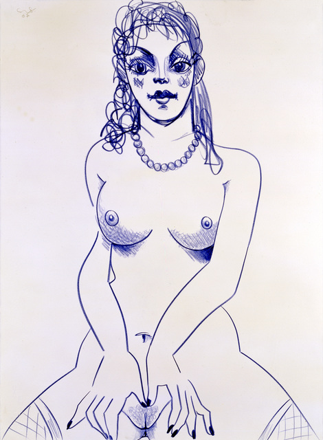 , 'Blue Nude with Pearls,' 2007, Simon Lee Gallery