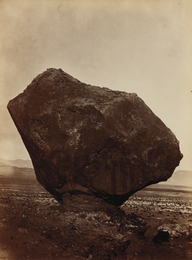 William Bell, 'Perched Rock, Rocker Creek, Arizona,' 1872, Phillips: The Odyssey of Collecting