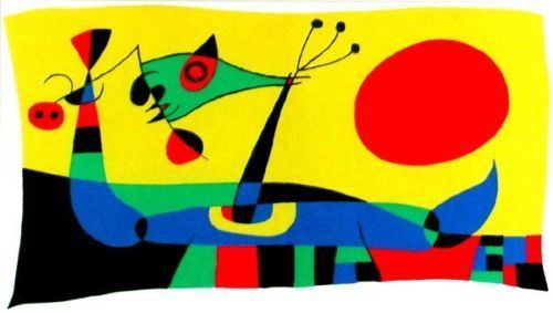 Joan Miró, 'Untitled (Peacock Feathers) Composition 2', 1956, Print, Lithograph in colours, artrepublic