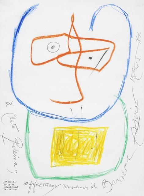, 'Portrait of Cleto Polcina,' 1981, Omer Tiroche Gallery