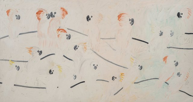 Hunt Slonem, 'Cockatoo's', 2001, Other, Oil on canvas, Heritage Auctions