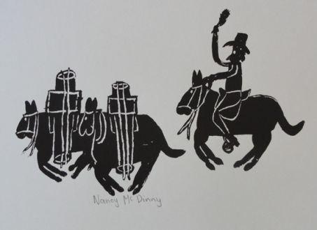 Nancy Mcdinny, 'Pack horse and saddler', 2009, Rebecca Hossack Art Gallery
