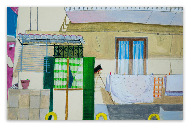 Francesca Reyes, 'Naples Plaids', 2019, Drawing, Collage or other Work on Paper, Watercolor and graphite on paper, Deep Space Gallery