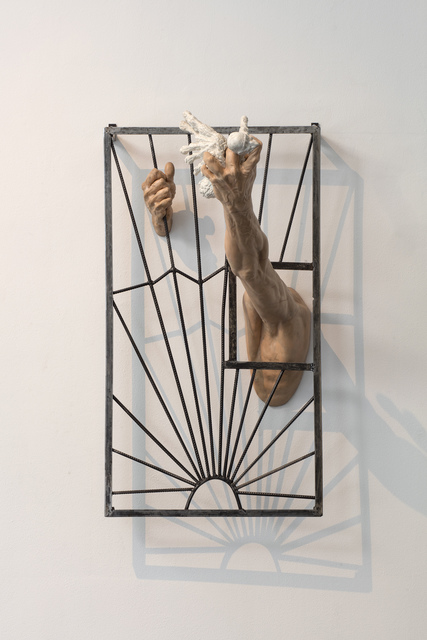 Oleg Kulik, 'Grids', 2019, Installation, Polymeric clay, iron grid, Giampaolo Abbondio
