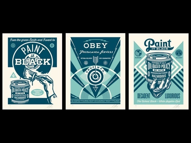 Shepard Fairey (OBEY), 'paint it black pcp set', 2016, Rudolf Budja Gallery